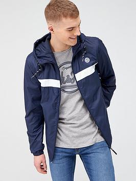 jack & jones Jack & Jones Originals Cott Light Stripe Hooded Jacket - Navy  ... Picture
