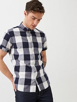 jack & jones Jack & Jones Jack & Jones Originals Short Sleeve Large Check  ... Picture
