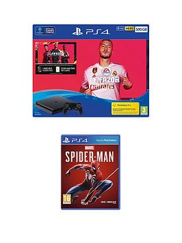 playstation-4-ps4-500gb-fifa-20-bundle-with-marvelsnbspspider-man-and-optional-extras