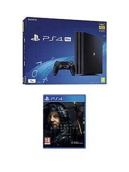 Playstation 4   1Tb Ps4 Black Pro Bundle With Death Stranding