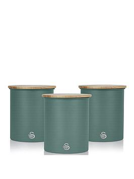 Swan Swan Nordic Set Of 3 Canisters Picture