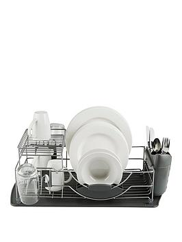 Tower Tower Compact 2-Tier Dish Rack With Cutlery Holder Picture