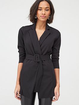 v-by-very-crepe-buckle-blazer-black