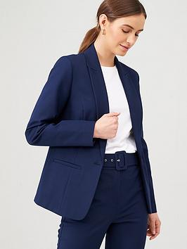 V by Very V By Very Single Button Blazer - Navy Picture