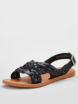 V by Very V By Very Hyacinth Leather Huarache Sandal - Black Picture
