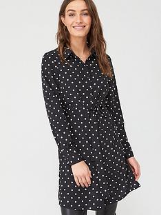 v-by-very-longline-tie-waist-printed-shirt-spot