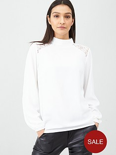 v-by-very-lace-yolk-shoulder-high-neck-long-sleeve-shell-top-ivory