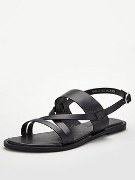 V by Very V By Very Hero Wide Fit Leather Strappy Sandal - Black Picture