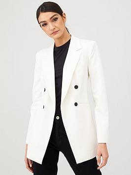 V by Very V By Very Longline Military Jacket - Ivory Picture