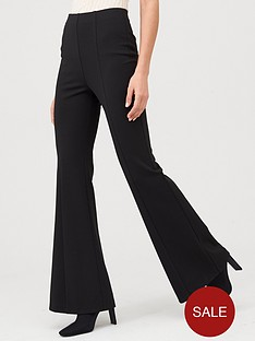 v-by-very-ponte-flare-trouser-black