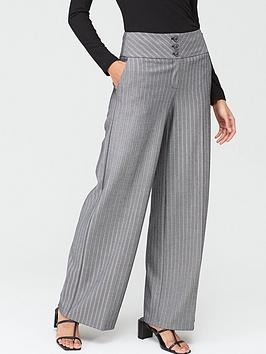 V by Very V By Very The Wide Leg Trouser - Grey Picture
