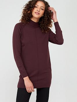 V by Very V By Very Seam Detail Tunic - Merlot Picture