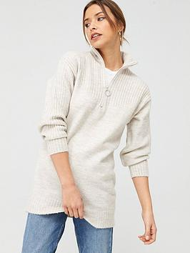 V by Very V By Very Zip Up Tunic - Ivory Picture