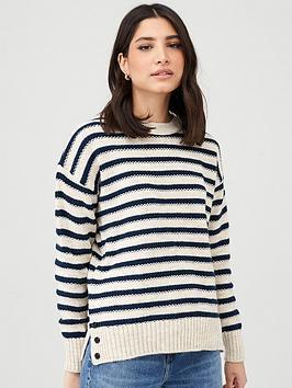 V by Very V By Very Stripe Round Neck Jumper - Stripe Picture