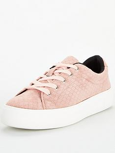 v-by-very-molly-textured-lace-up-trainer-pink