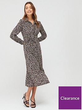 v-by-very-tie-waist-printed-shirt-dress-print