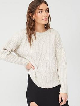 v-by-very-oversizednbspcable-design-jumper-ivory