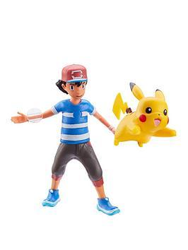 Pokemon Pokemon Battle Feature 4.5 Inch Ash Figure &Amp; Pikachu Picture