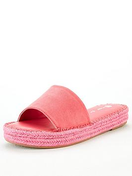 V by Very V By Very Hydra Colour Flood Espadrille Slider - Pink Picture
