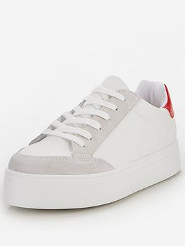 V by Very V By Very Contrast Trainer - White Picture
