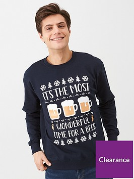 v-by-very-its-the-most-wonderful-time-for-a-beer-sweatshirt-navy