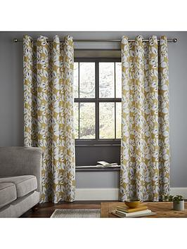 Catherine Lansfield Catherine Lansfield Inga Leaf Eyelet Curtains Picture