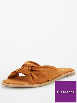 v-by-very-hinch-wide-fit-knot-slider-tan