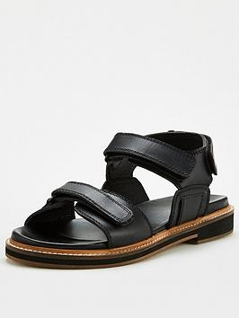 V by Very V By Very Havva Leather Trekker Sandals - Black Picture