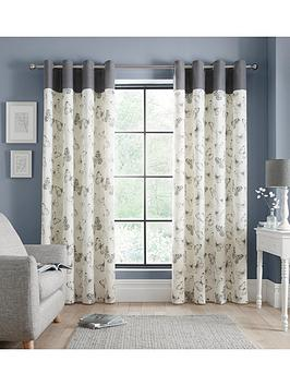 Catherine Lansfield Catherine Lansfield Sibella Butterfly Eyelet Curtains Picture