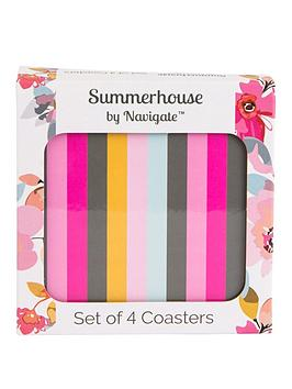 Summerhouse by Navigate Summerhouse By Navigate Gardenia Striped Coasters  ... Picture