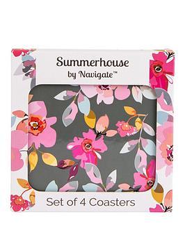 summerhouse-by-navigate-gardenia-grey-floral-coasters-ndash-set-of-4