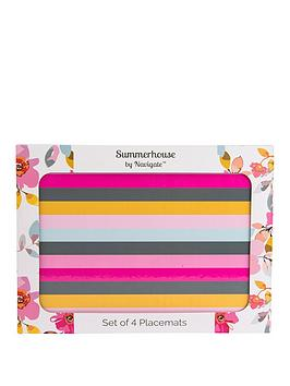 Summerhouse by Navigate Summerhouse By Navigate Gardenia Striped Placemats  ... Picture