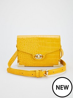 v-by-very-metal-trim-crossbody-bag-yellow
