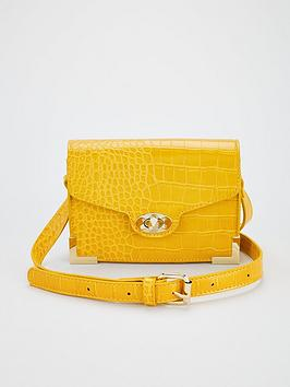 V by Very V By Very Metal Trim Crossbody Bag - Yellow Picture