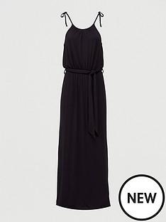 v-by-very-scoop-neck-tie-waist-maxi-dress-black