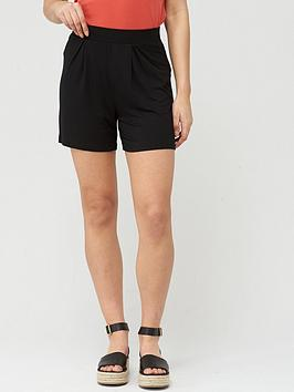 V by Very V By Very Pleated Jersey Shorts - Black Picture