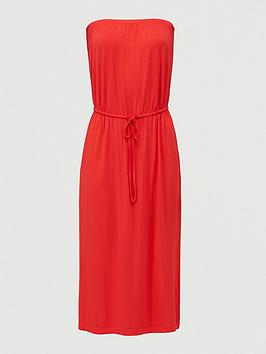 V by Very V By Very Bandeau Channel Waist Jersey Midi Dress - Red Picture