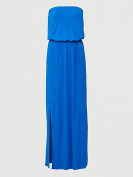 V by Very V By Very Bandeau Jersey Maxi Dress - Bright Blue Picture