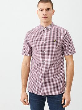 Lyle & Scott Lyle & Scott Short Sleeved Gingham Shirt - Red/White Picture