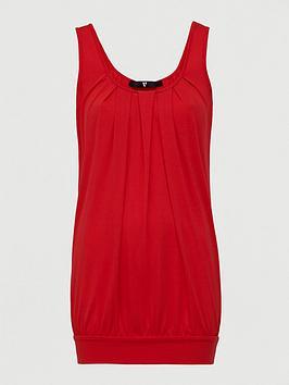 v-by-very-scoop-neck-bubble-hem-vest-red