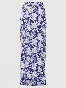 v-by-very-split-side-jersey-maxi-skirt-navy-print