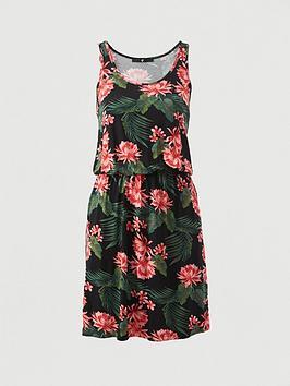 V by Very V By Very Jersey Pocket Mini Dress - Black/Print Picture