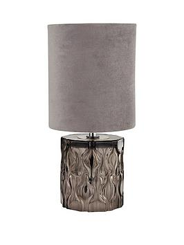 textured-glass-base-table-lamp-with-grey-shade