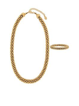 Accessorize Accessorize The Bobble Necklace And Bracelet Set - Gold Picture