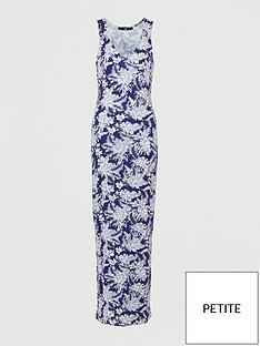 v-by-very-petite-v-neck-jersey-maxi-dress-navy-print