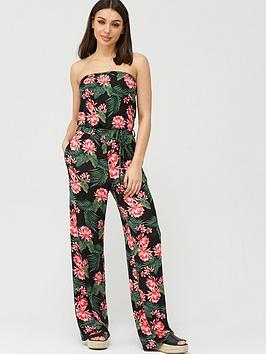 v-by-very-strapless-tie-waist-jumpsuit-black-print
