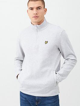 Lyle & Scott Lyle & Scott Quarter Zip Pique Sweatshirt - Grey Picture