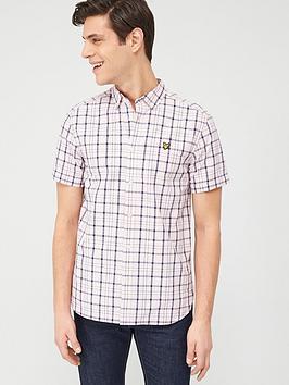 Lyle & Scott Lyle & Scott Short Sleeve Check Shirt - Strawberry Picture