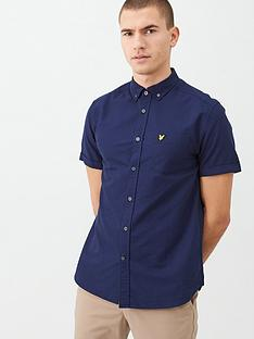 lyle-scott-shortv-sleeved-oxford-shirt-navy