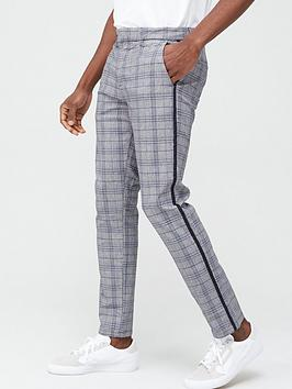 River Island River Island Check Skinny Trouser - Grey/Blue Picture